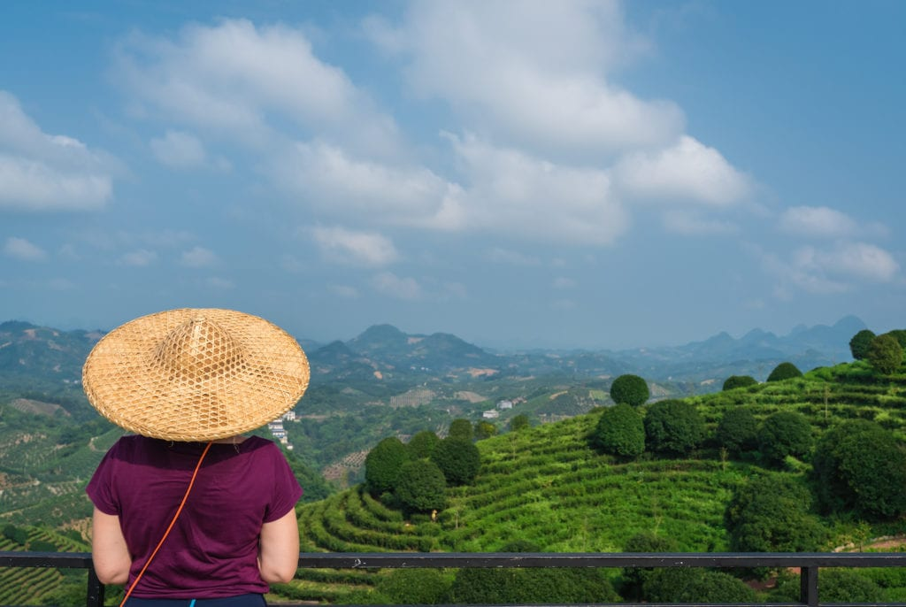 Always remember your hat when you're thinking of what to wear in Asia