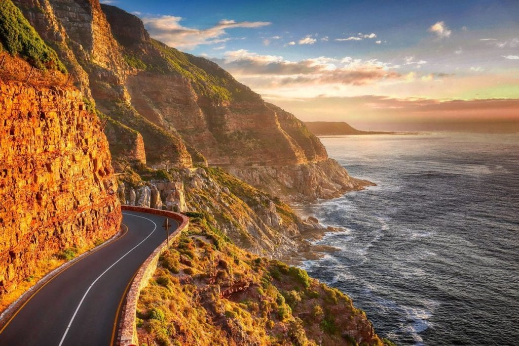 ocean cliffside road South Africa