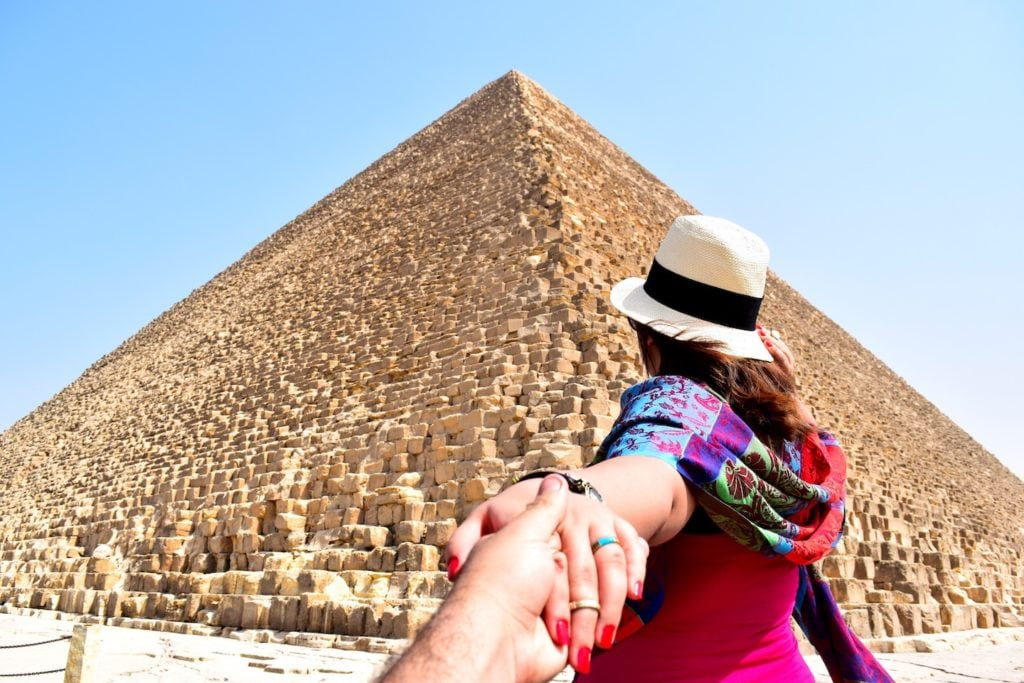 No trip to Egypt would be complete without seeing the Giza pyramids