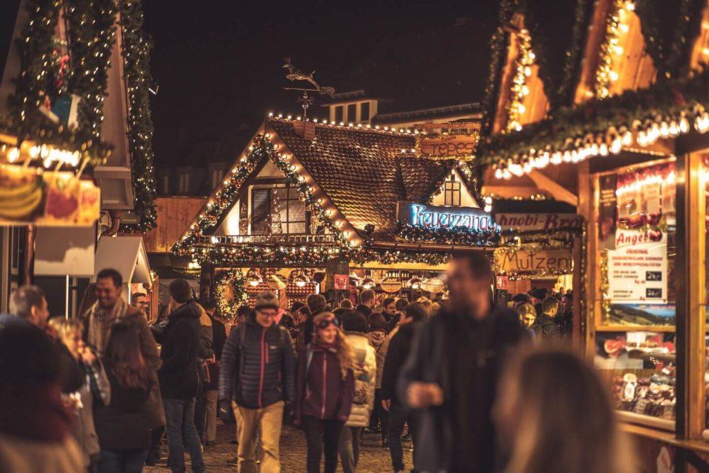 Frankfurt Christmas markets twinkling market stalls
