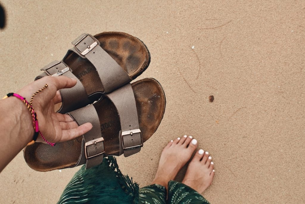 Birkenstocks are a great option on what to wear in Thailand