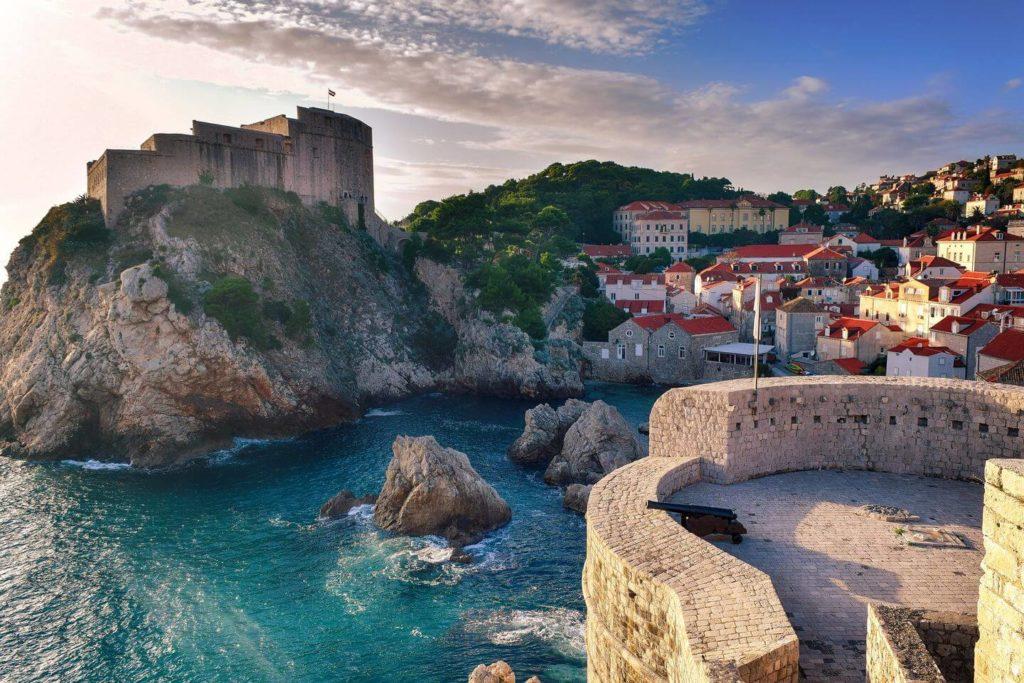 old fortress ocean Old Town Dubrovnik Croatia