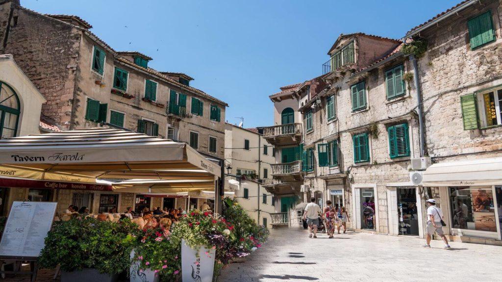 village shops Split Croatia trip to Eastern Europe