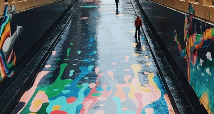 Colourful street art in Santiago