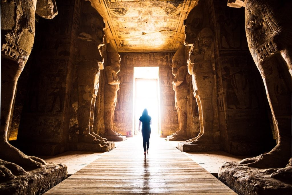 Dressing modestly is required when visiting the sacred sites so consider this when you're planning what to wear and pack for your trip to Egypt
