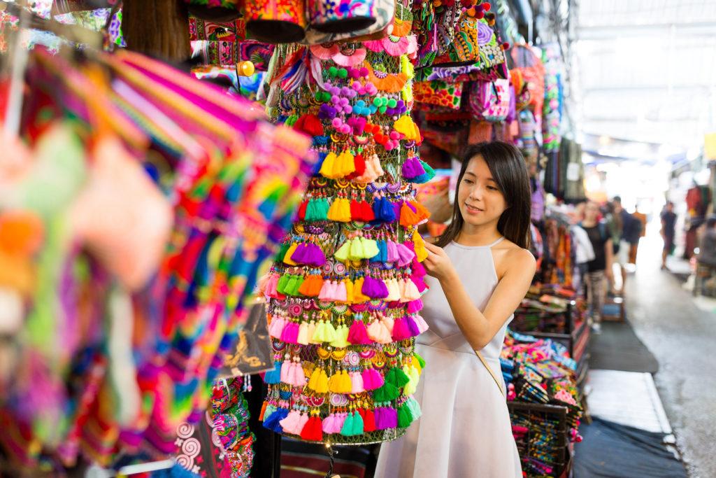 Shopping at a Thailand market is a cultural highlight