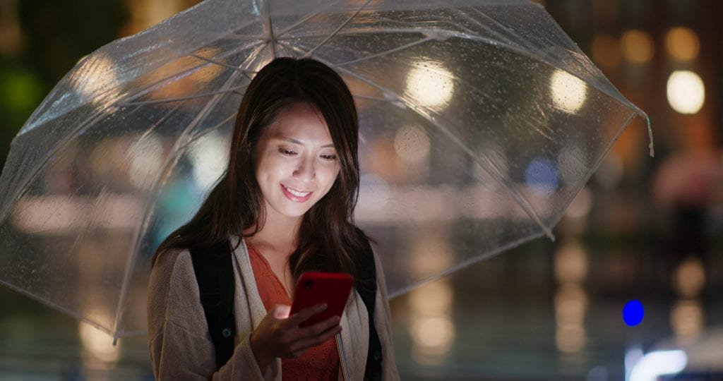 Consider an umbrella or raincoat when you're planning what to bring to Asia
