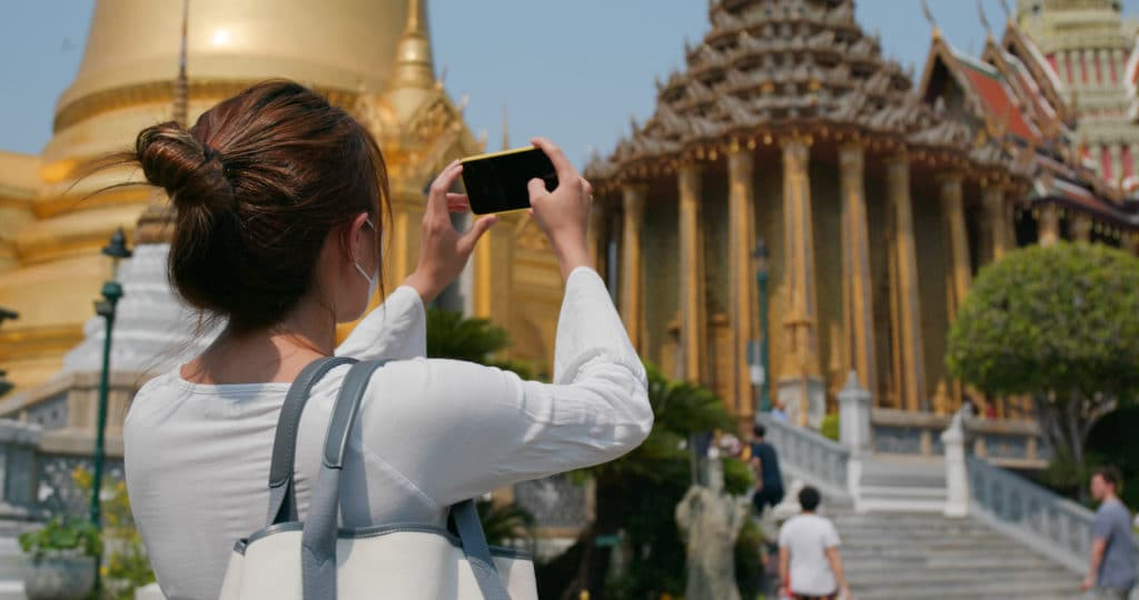 When wondering what to wear in Asia, keep your shoulders covered when you're visiting temples