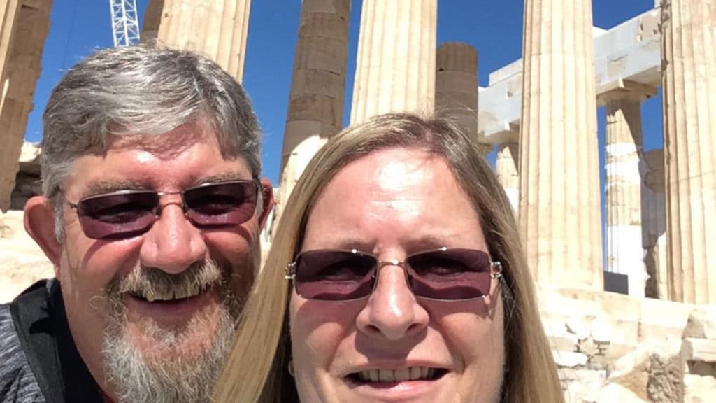 Eleonore and Tony Lee on the trip-of-a-lifetime