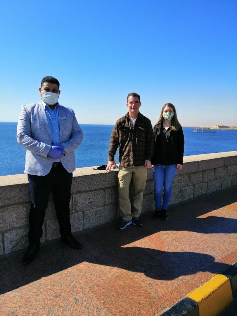 Trafalgar guests in Egypt with Travel Director