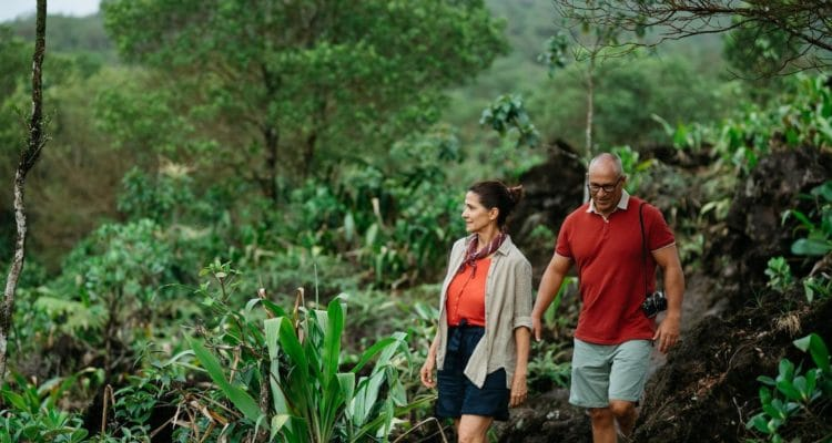 a couple hiking in Costa Rica