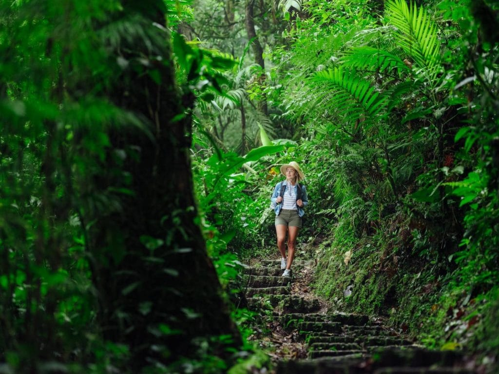 A girl hiking in Costa Rica