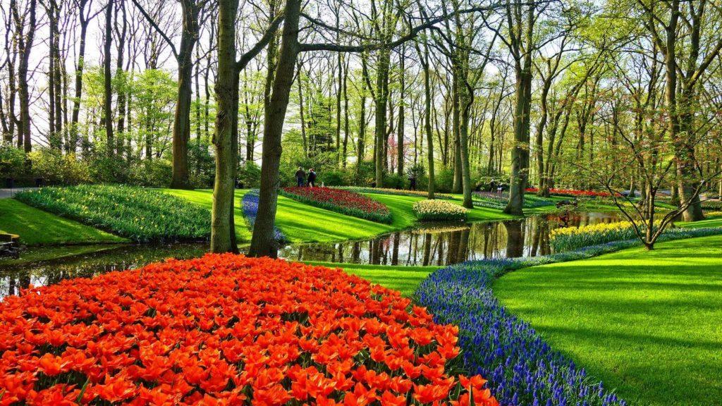colourful tulips Keukenhof Gardens Netherlands Easter travel