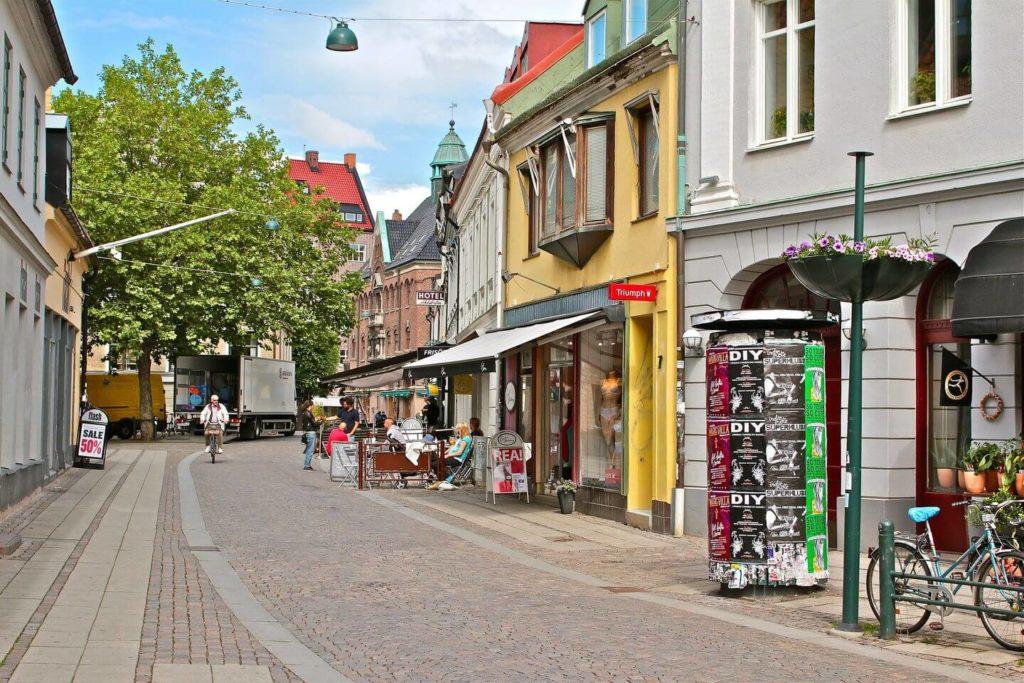 quiet street in Malmo Sweden