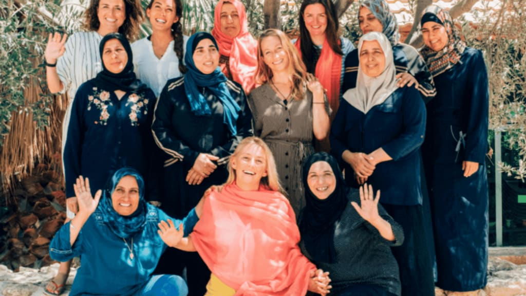 women at the Iraq al-Amir Women's Centre Jordan responsible travel experiences