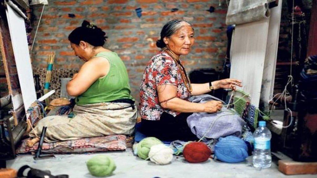 women working at Tibetan Refugee Centre in Nepal