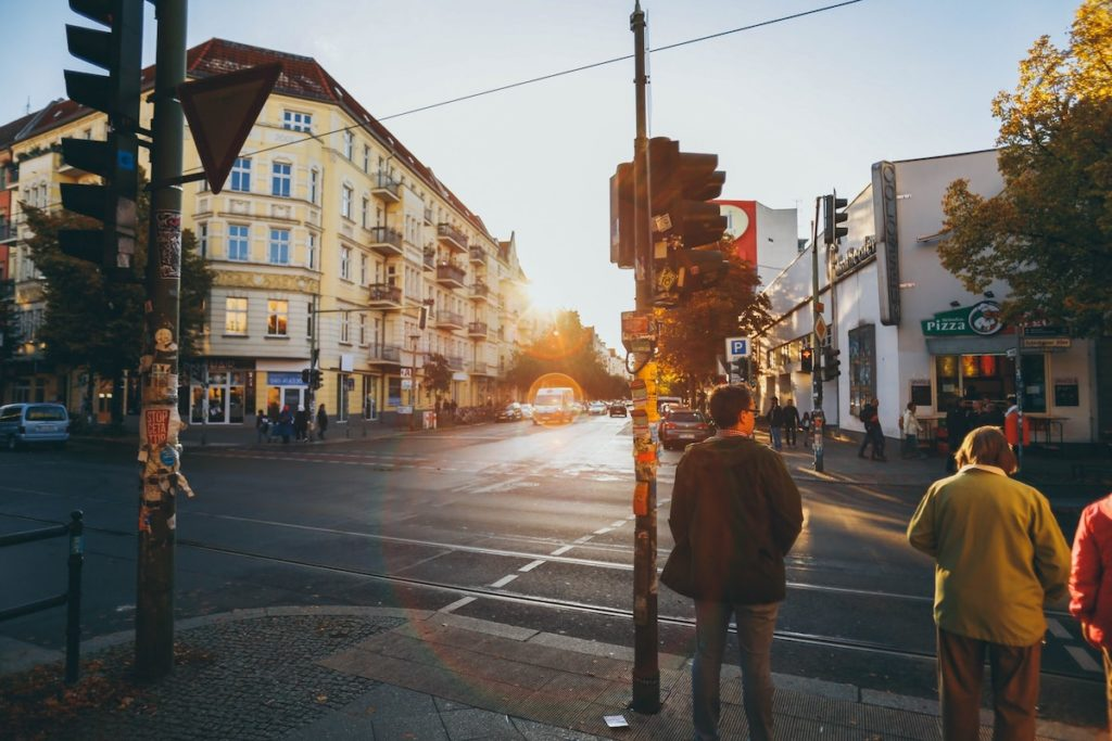 German town crossing