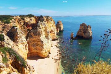 Estrada da ponta da piedade, lagos, portugal