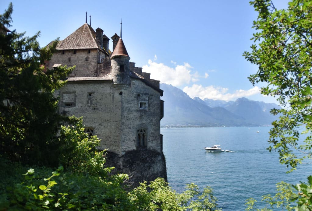 town of Montreux in the Swiss Riviera