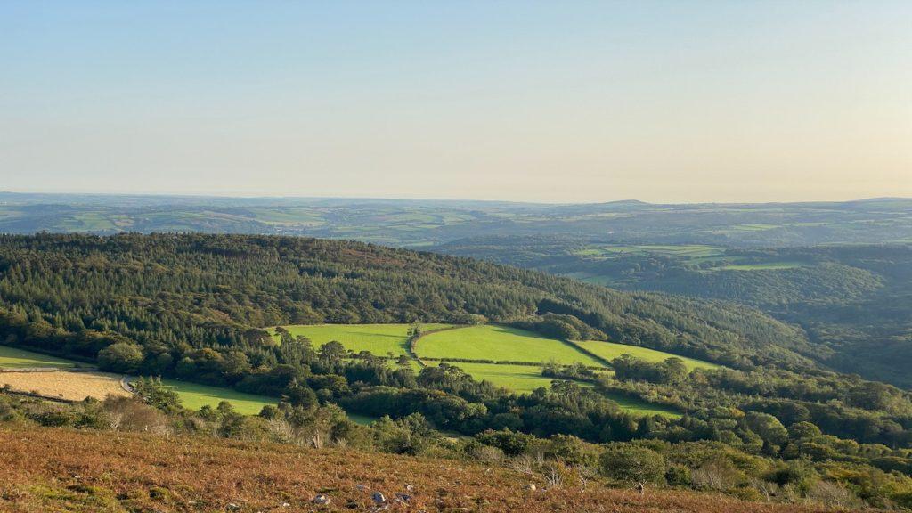 Dartmoor landscapes in Devon