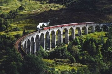 Glenfinnan Viaduct Scotland Harry PotterUK film locations