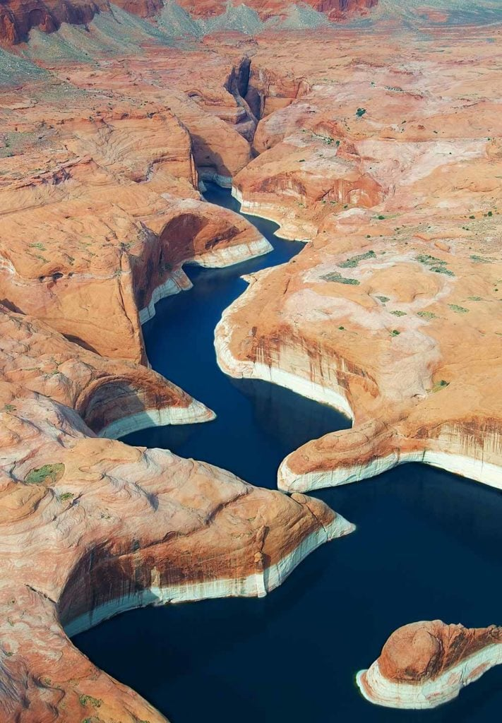 Lake Powell is one of the most beautiful American lakes