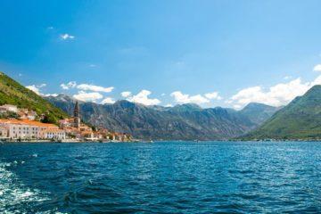 seaside village mountains Adriatic Sea Croatia