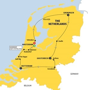 Itinerary map of Best of Holland Summer 2018