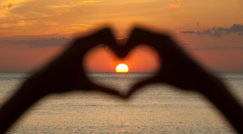 sunset heart