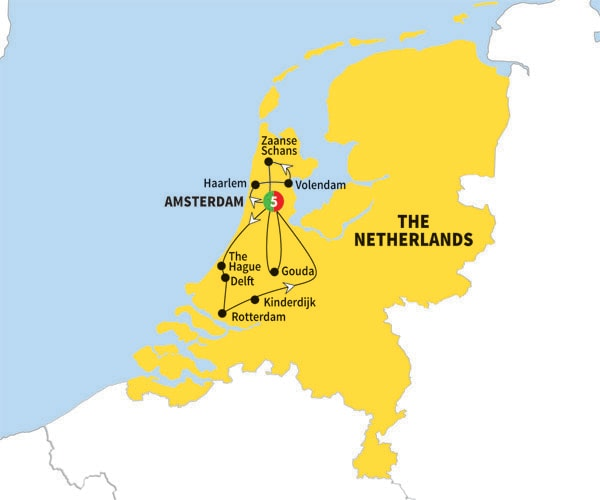 Itinerary map of Amsterdam Explorer Preview 2018