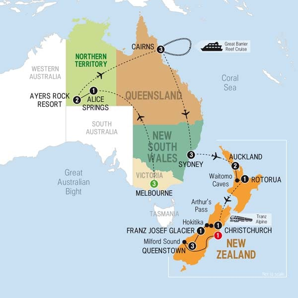 Australia and New Zealand Combined USA Trips Australia and – Auckland Australia Map