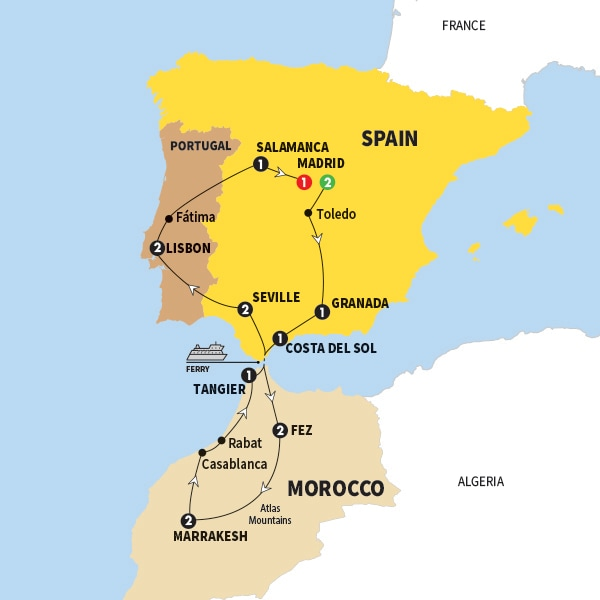 Spain Morocco and Portugal Winter 201718