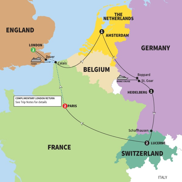 Germany Tours Germany Vacations Trafalgar CA - Map of germany and france