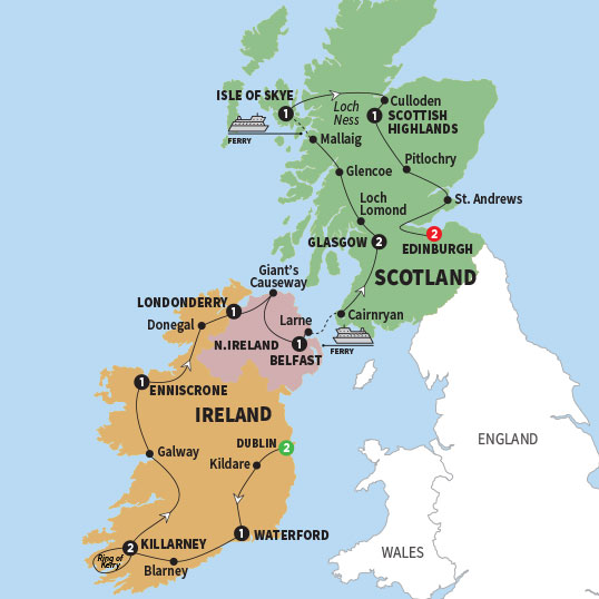 Tours Of Britain Scotland And Wales