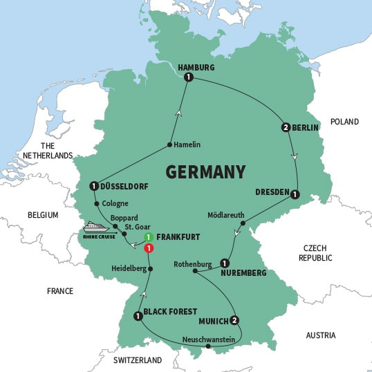 Germany tours germany vacations trafalgar us map gbogwinmapww18 gumiabroncs Image collections