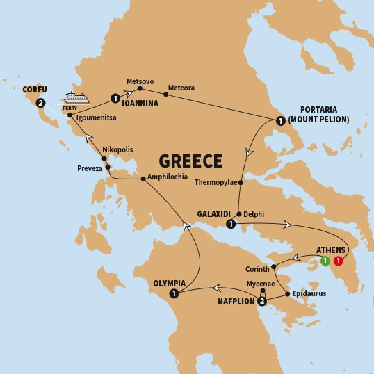 Costco Trafalgar Secrets of Greece including Corfu Summer 2018