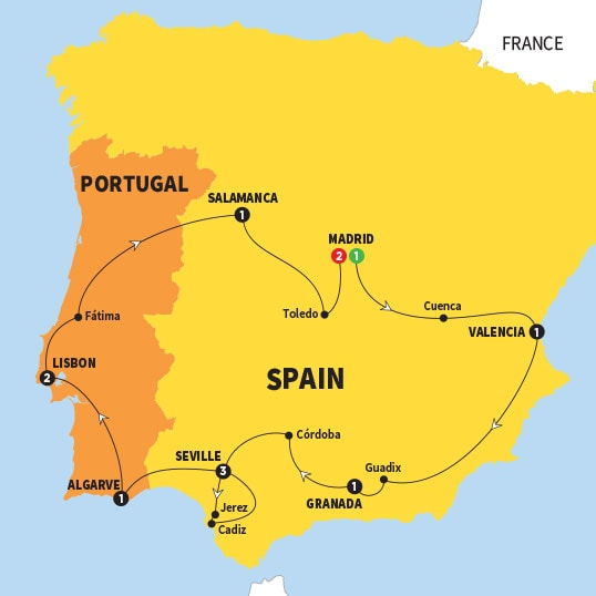 Where Should I Spend Week Vacation In Spain: Trips Around France, Spain, Portugal & Morocco