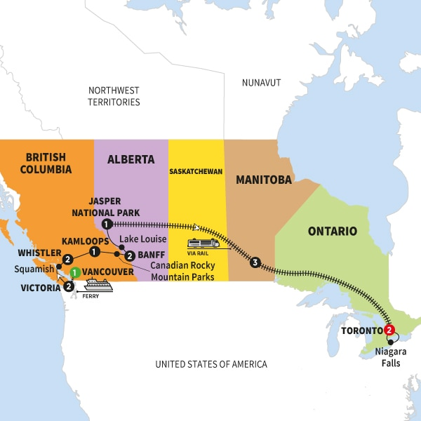 Iconic Rockies and Western Canada with Rocky Mountaineer Silverleaf and Alaska Cruise Ocean View Stateroom Summer 2018