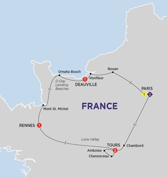Jewels of France including Normandy