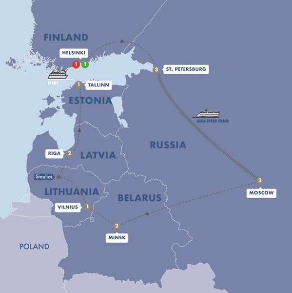 Best of Finland Russia and The Baltic States