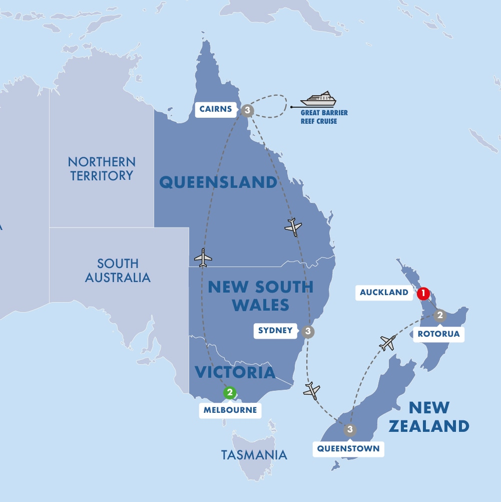 Australia and New Zealand Panorama Summer 2019