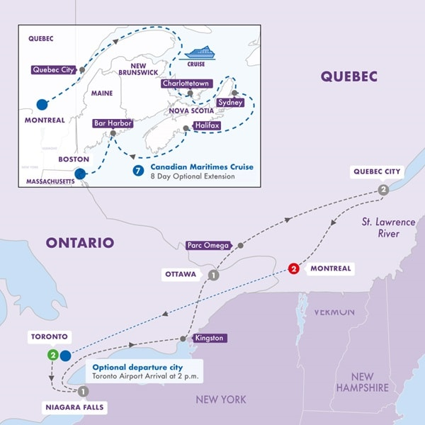 Best of Eastern Canada with Canadian Maritimes Cruise Inside Stateroom Summer 2019