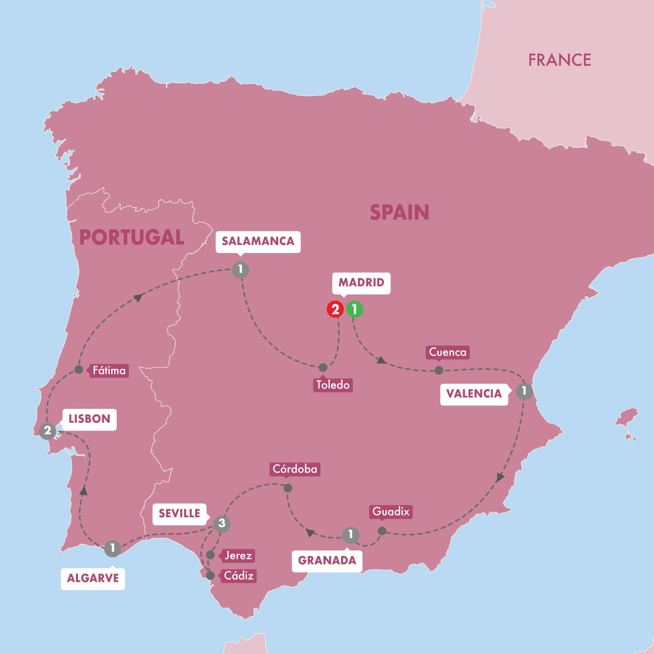 - Highlights of Spain and Portugal Winter 2019 2020 Map
