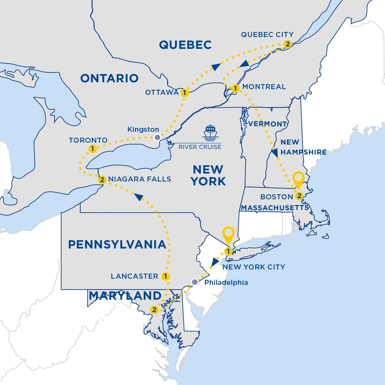 Map Of Eastern Canada And Usa.Landscapes Of Eastern Canada And Usa End New York Summer 2020