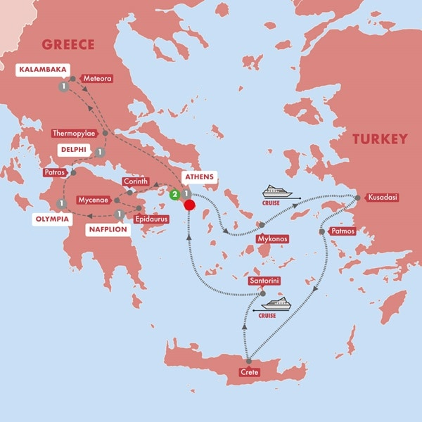 Best of Greece with 3Day Aegean Cruise Premium