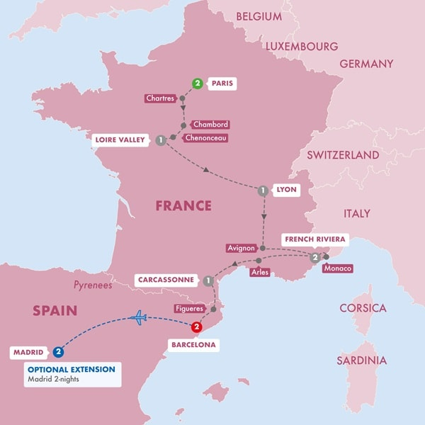 Highlights of France and Barcelona