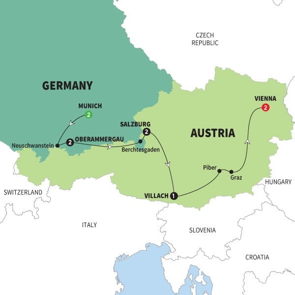 Map Of Sound of Music with Oberammergau First Look 2020