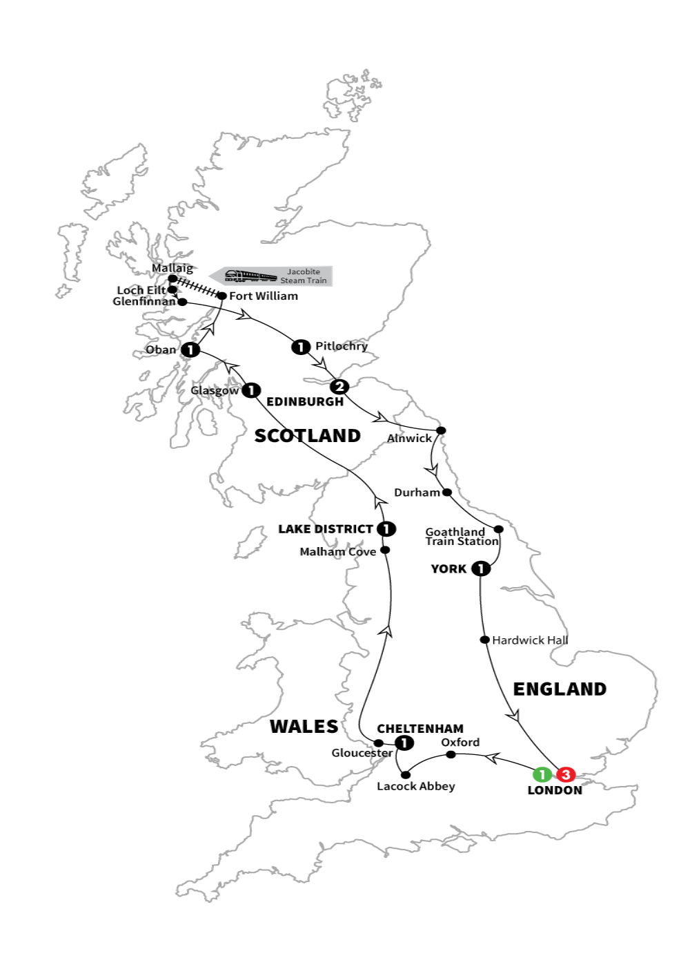 Harry Potter Map Of England.Exclusive Wizarding World Of Harry Potter Tour Journeys By Escapes