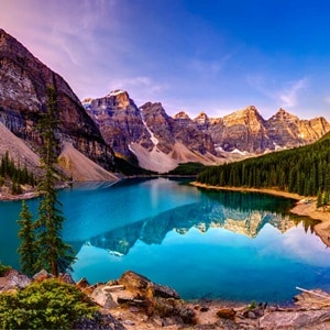 Image of Iconic National Parks American and Canada Rockies